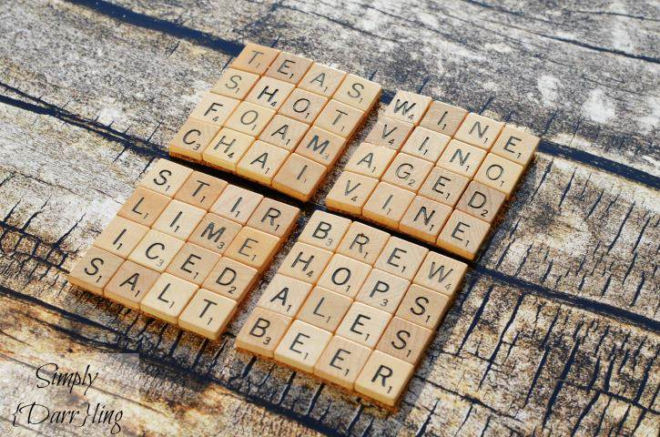 2. DIY Scrabble Tile Coasters