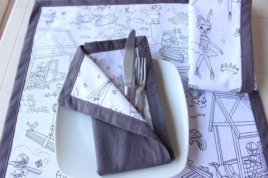 2. DIY Self Binding Cloth Napkins