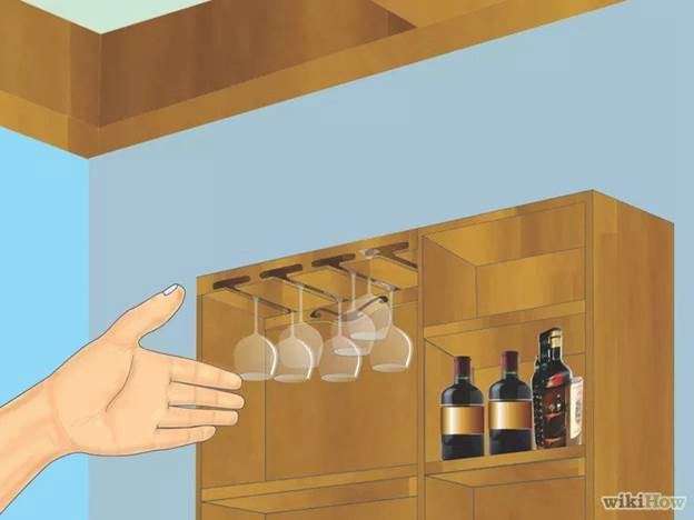 2. How to Make a Hanging Wine Glass Rack