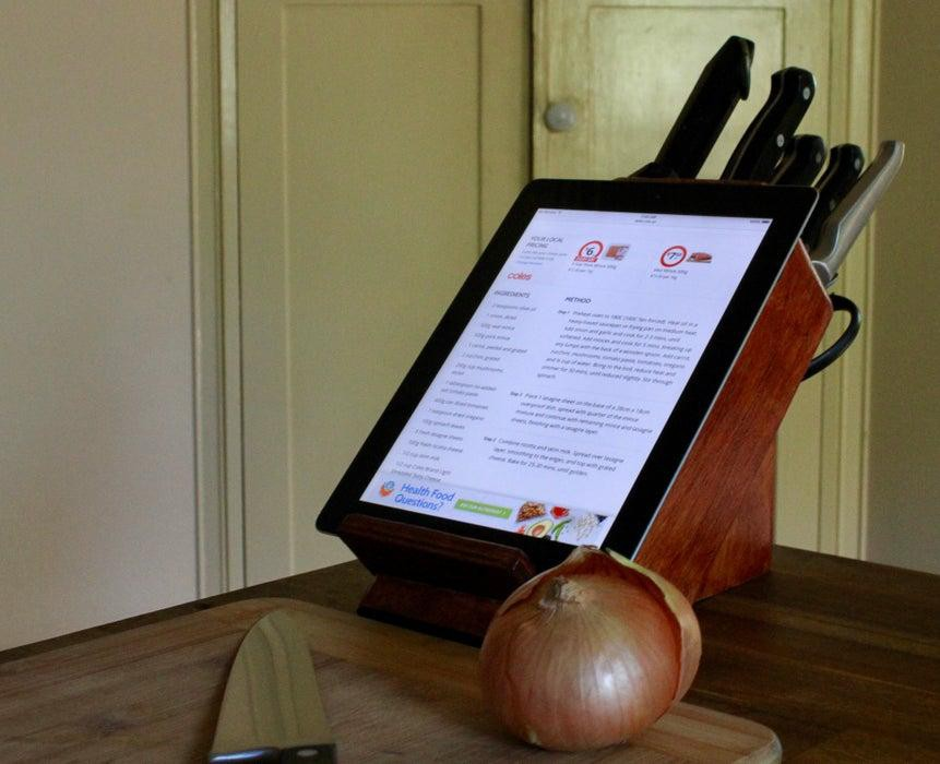 2. Rejuvenated Knife Block Tablet Stand