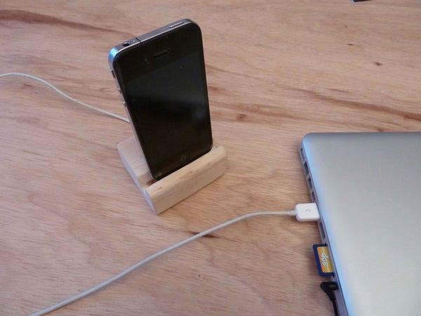 2. Wood iPhone Dock DIY