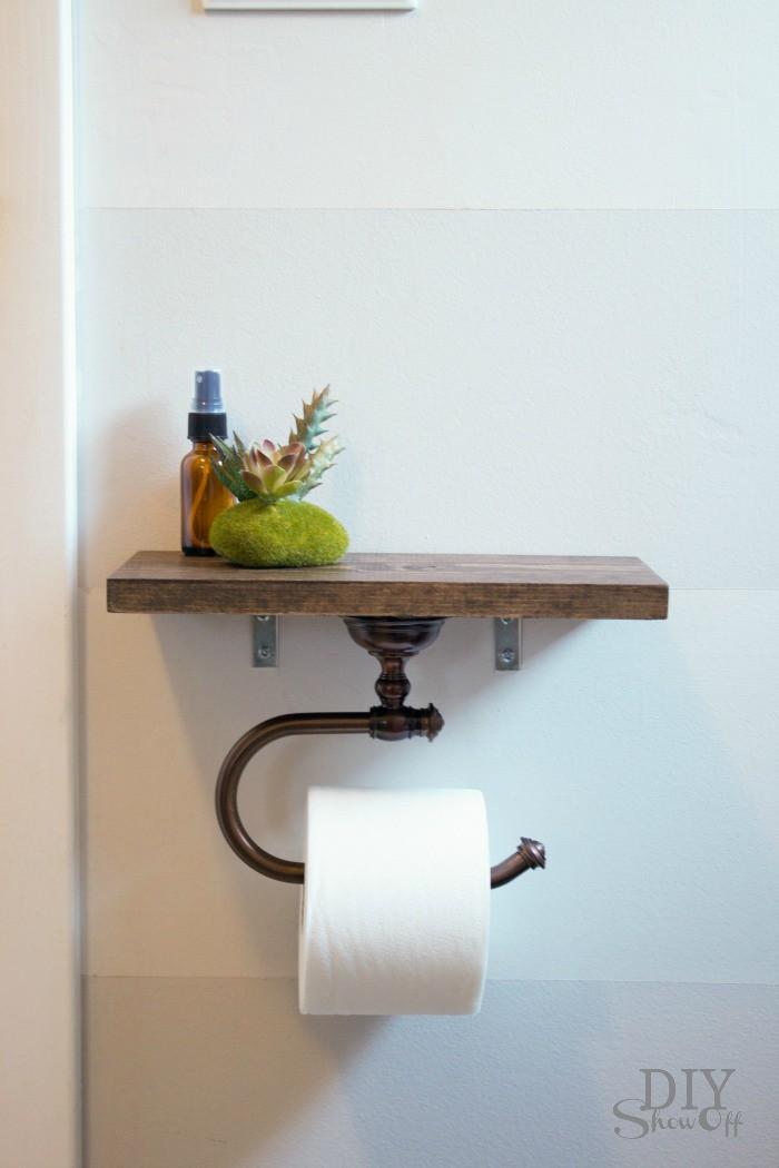 20. DIY Hanging Toilet Paper Holder