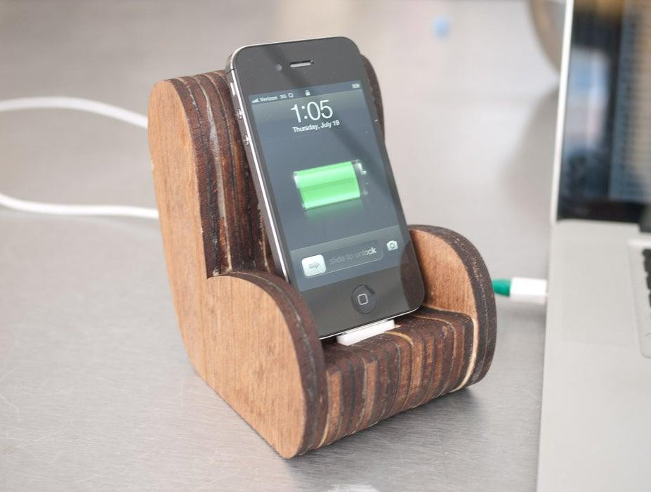 20. DIY Wooden Chair iPhone Stand