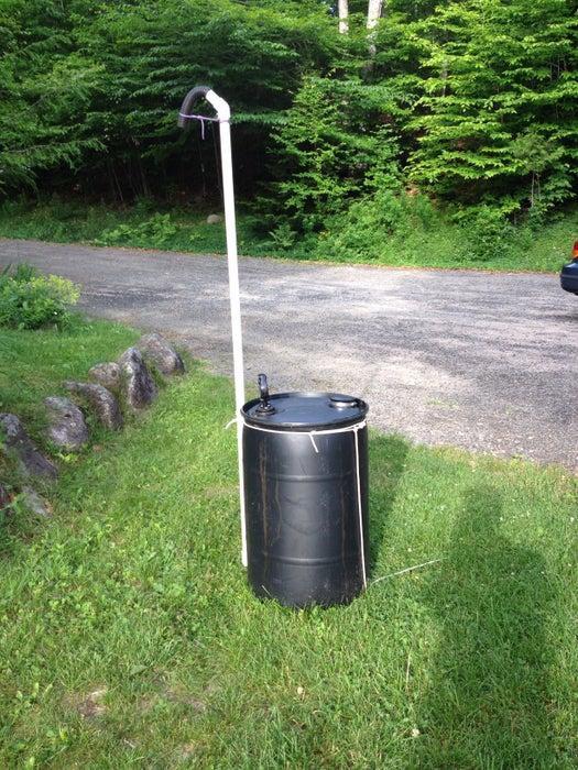 20. Easy Outdoor Shower DIY