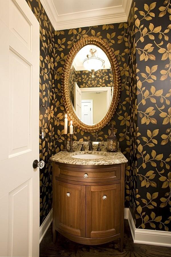 21) Black & Gold Floral Fantasies