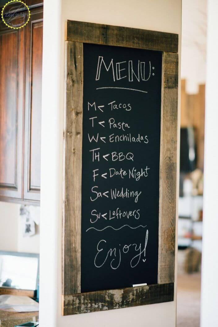 21. DIY Chalkboard Dinner Menu