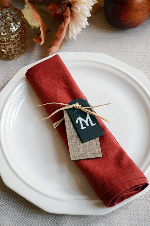 21. DIY Monogrammed Napkin Rings