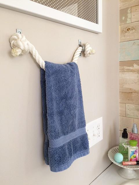 21. DIY Rope Towel Holder