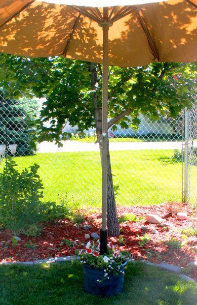 21. DIY Umbrella Stand And Planter