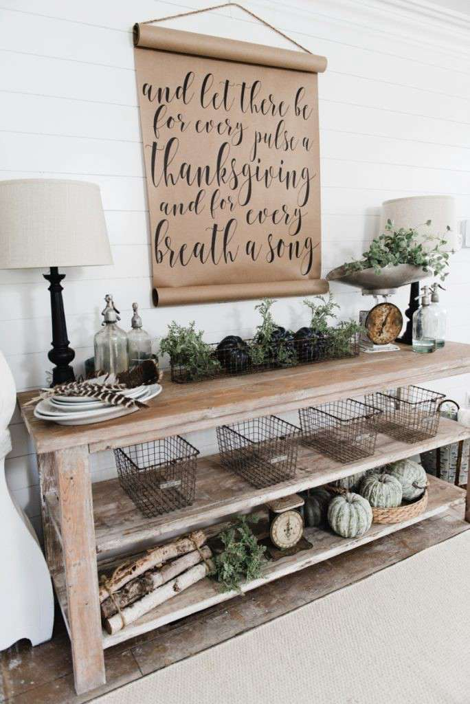 21. Farmhouse Style Buffet Sideboard DIY