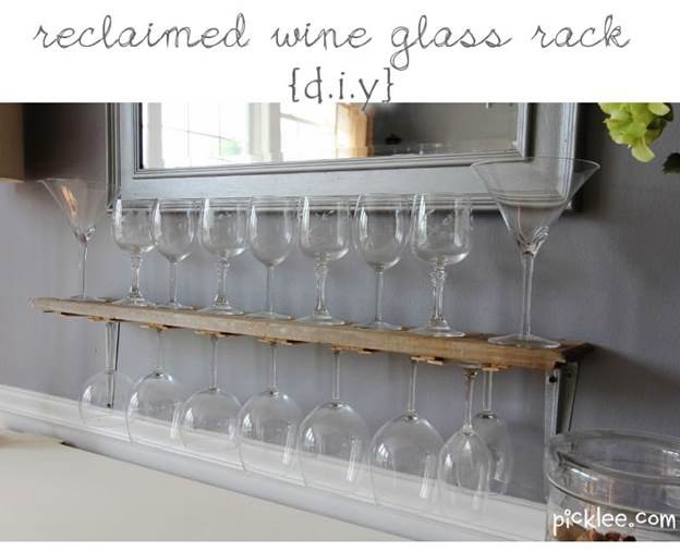 21. Wine Glass Rack DIY