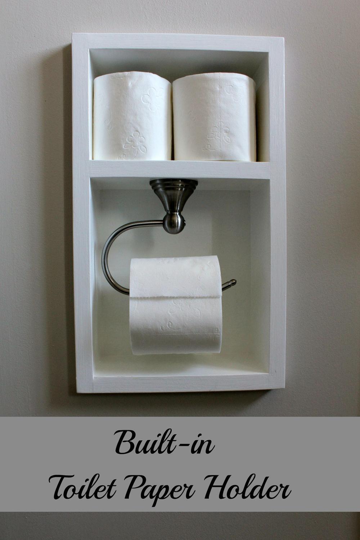 22. Built-in Toilet Paper Holder