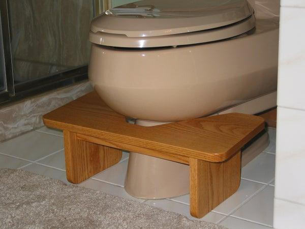 22. DIY Footstool For Toilet