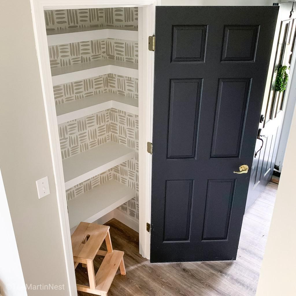 22. How To Build Floating Corner Pantry Shelves
