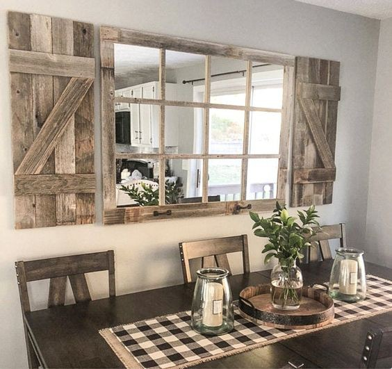 22. Rustic Window Wall Accent