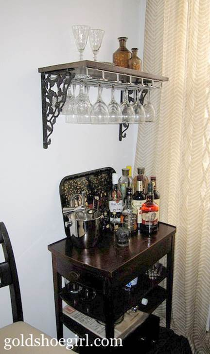 23. DIY Wine Glass Rack