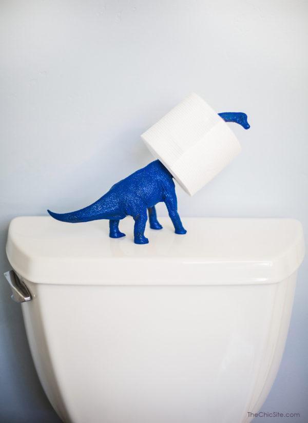 23. Dinosaur Toilet Paper Holder DIY