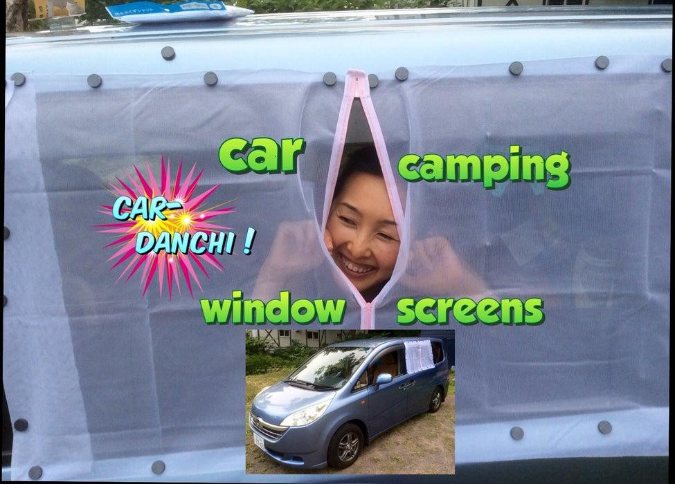 24. Car Camping Window Screen DIY