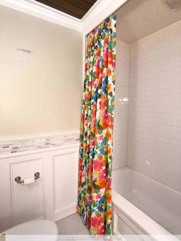 24. DIY Colorful Shower Curtain