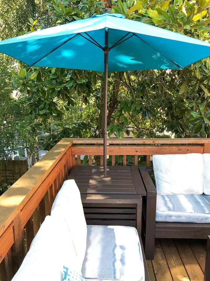 24. DIY Umbrella Stand Table
