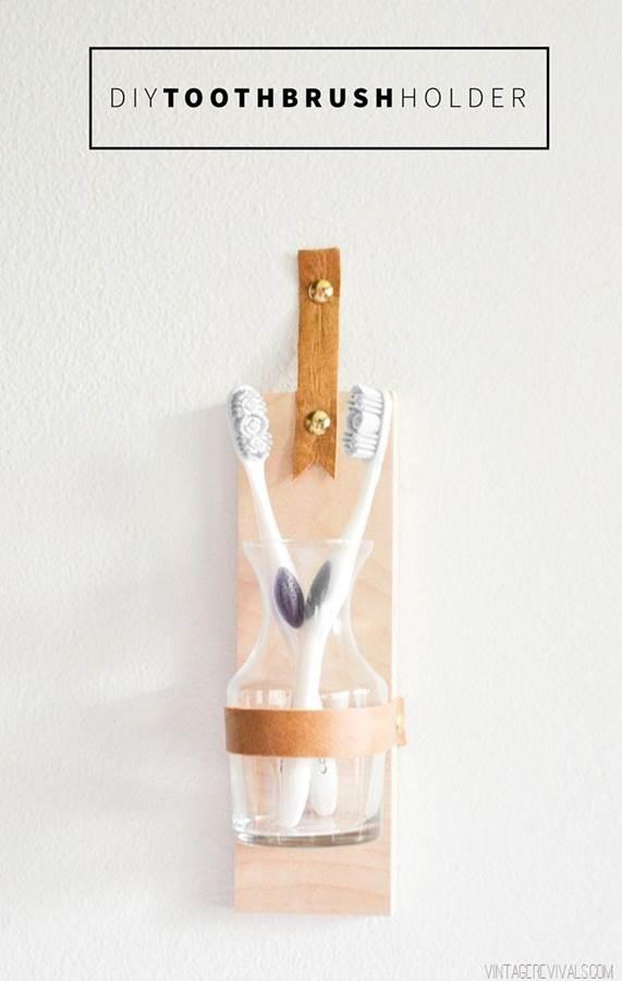 25. DIY Toothbrush Holder