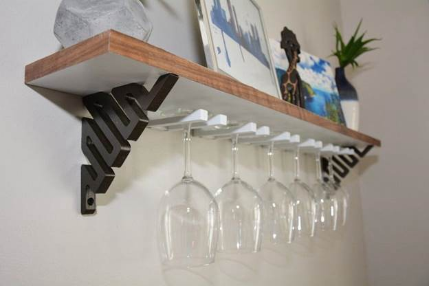 25. DIY Wine Glass Shelf