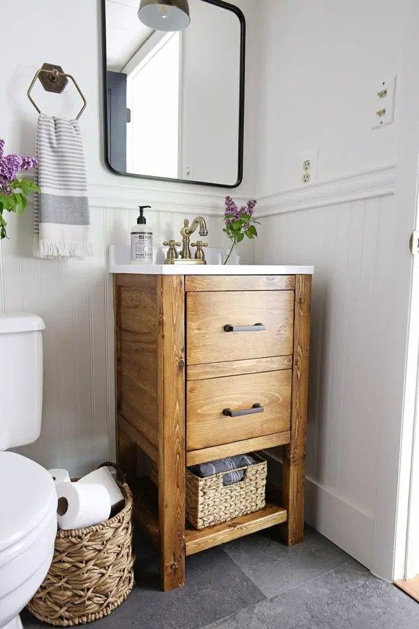 25. Low-Budget Bathroom Cabinet DIY