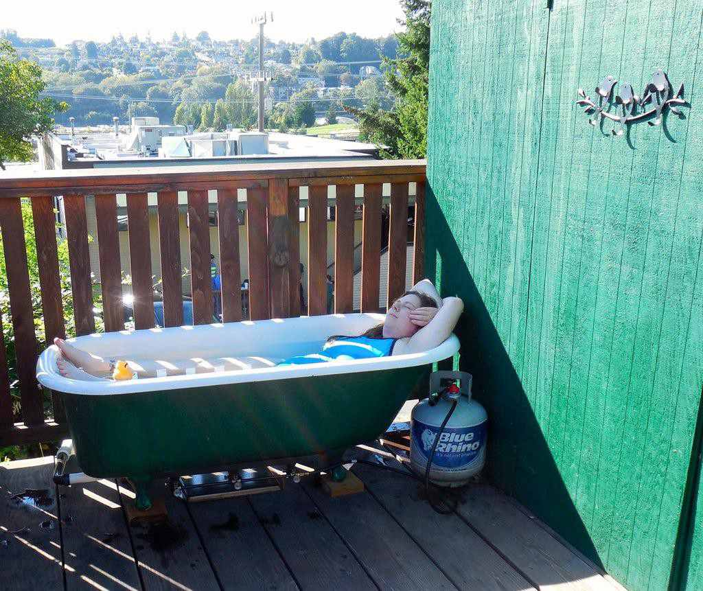 25. Propane Powered Hot Tub