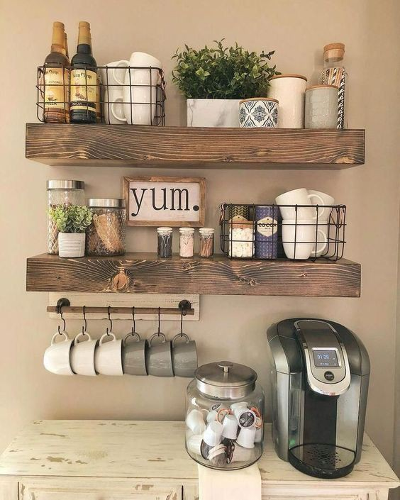 27. Vintage Kitchen Wall Decor Idea