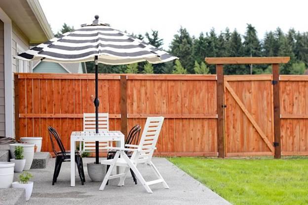 3. DIY patio umbrella stand