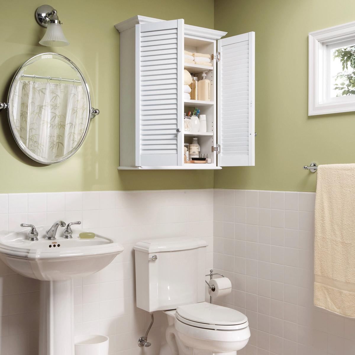 3. Simple Bathroom Cabinet DIY