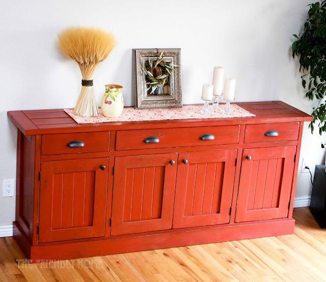 30. DIY Planked Wood Sideboard