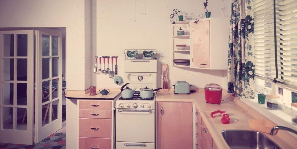 33. Sun-Worn Vintage Cabinets