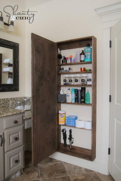 4. DIY Bathroom Cabinet With Mirror