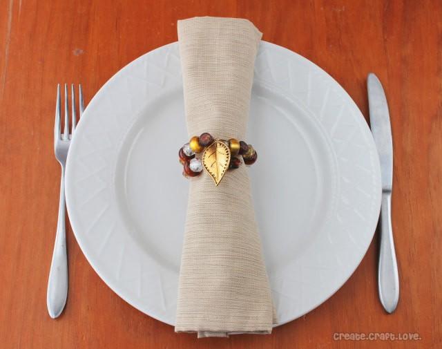 4. DIY Beaded Napkin Rings