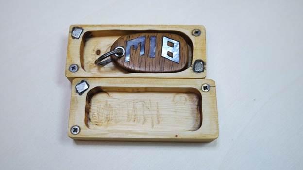 4. DIY Inlaid Keychain