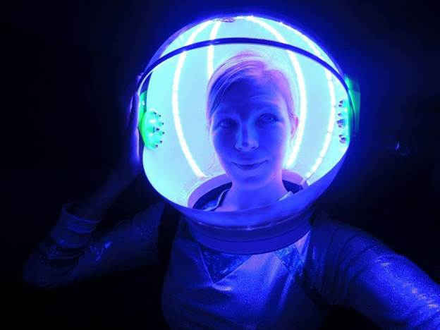 4. DIY LED Space Helmet