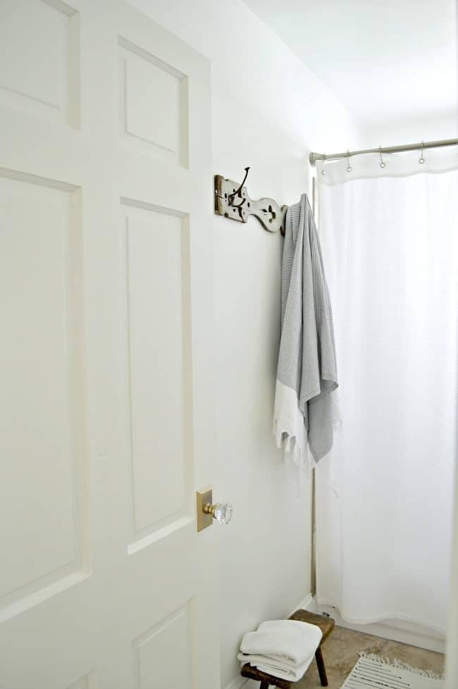 4. DIY Towel Holder For Bathroom
