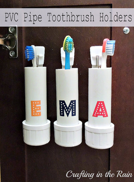 4. PVC Pipe Toothbrush Holder