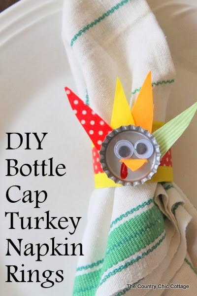 5. DIY Bottle Cap Napkin Rings