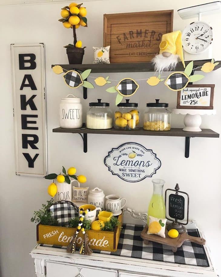 5. Lemon Kitchen Utensil Set