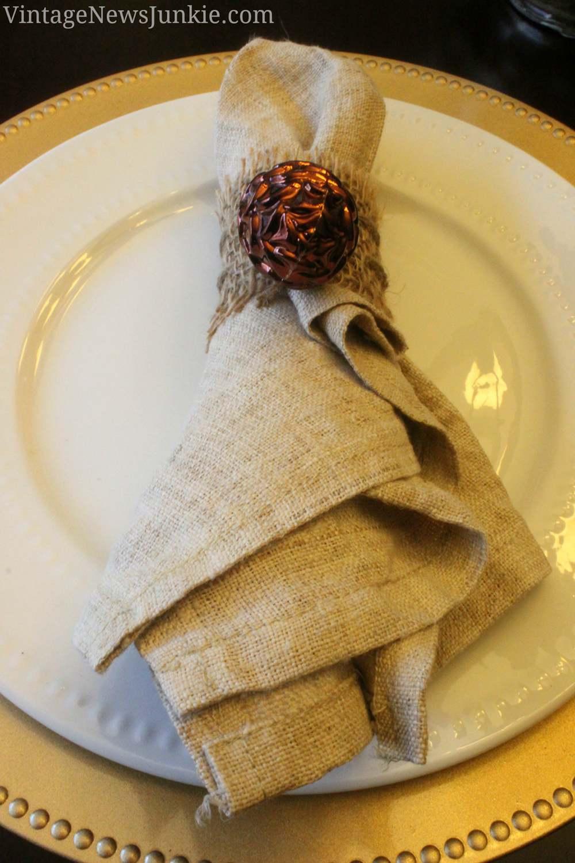 6. DIY Burlap Napkin Rings
