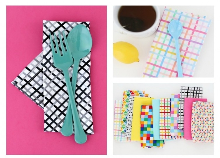 6. DIY Dinner Napkins With Mitered Corners