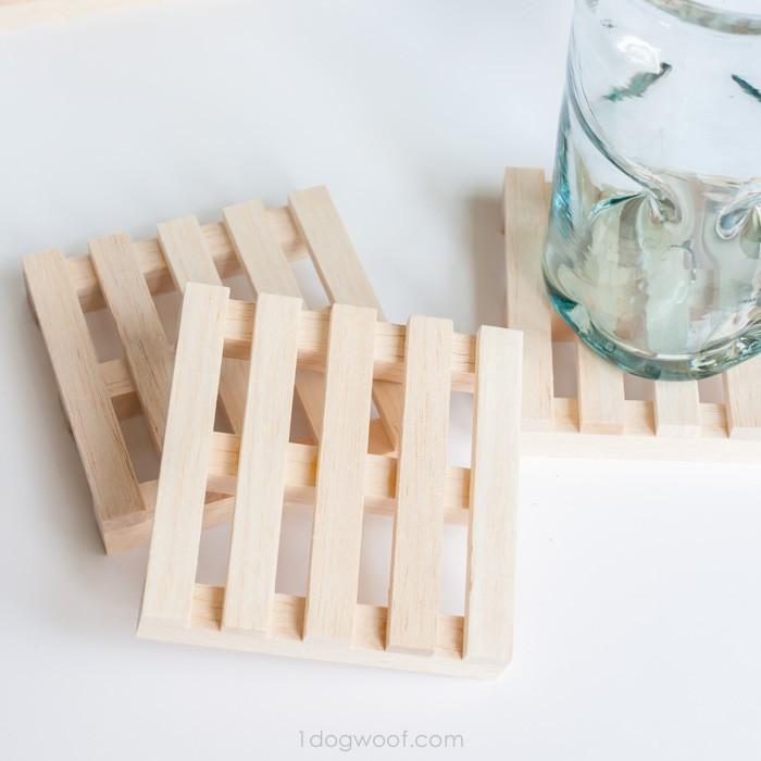6. DIY Pallet Wood Coasters