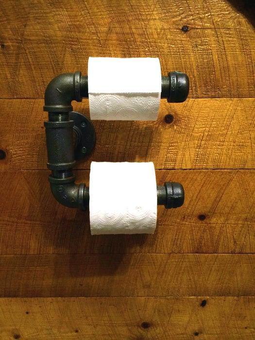 6. DIY Steel Pipes Toilet Paper