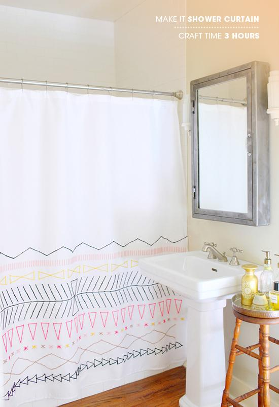 6. How To Design A Blank Shower Curtain