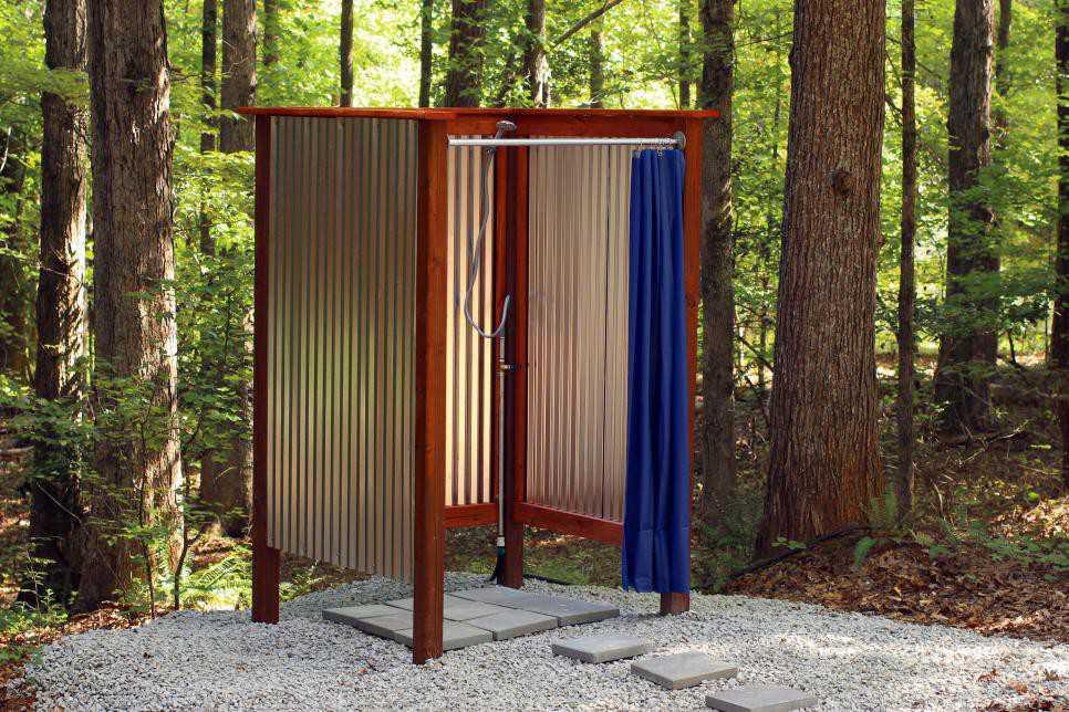 7. Building An Outdoor Shower