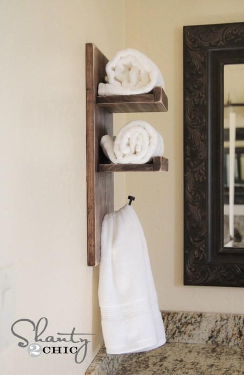 7. Cute DIY Towel Holder