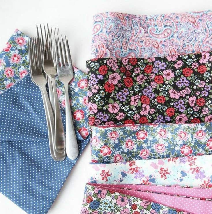 7. DIY No-Sew Dinner Napkins