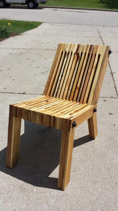 7. Recliner Pallet Wood Chair DIY